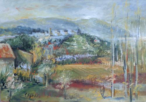 Quadro di Emanuele Cappello Paesaggio, olio su tela 70 x 100 | FirenzeArt Galleria d'arte