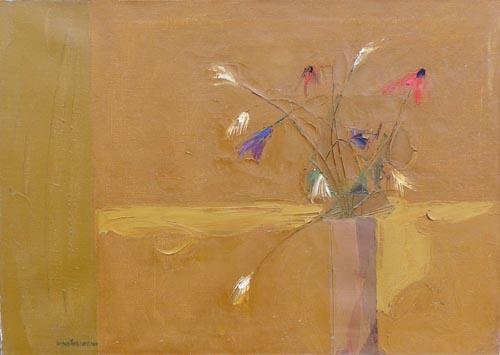 Quadro di Giorgio Sansoni Fiori - olio tela