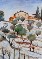 Quadro di Gino Michelotti  Neve in Toscana