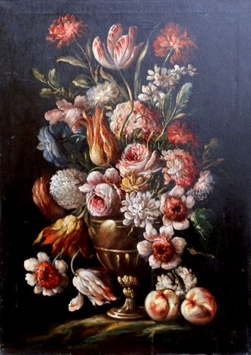 Art work by  Anonimo Vaso di fiori - oil canvas