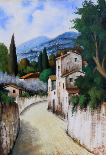 Art work by Pancrazio Spinelli Paesaggio - oil canvas
