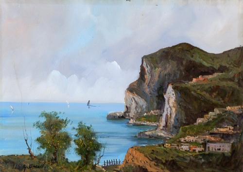 Quadro di Giulio Apicella Paesaggio - olio tela