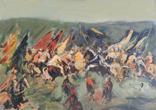 Quadro di Emanuele Cappello Battaglia - olio tela