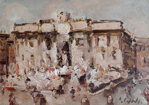 Quadro di Emanuele Cappello Fontana di Trevi - olio tela