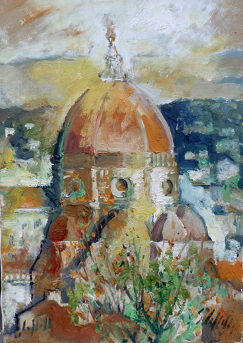 Art work by Emanuele Cappello Cupola di Santa Maria del Fiore - oil canvas