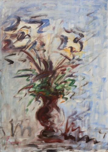 Quadro di  Copie d'Autore Vaso di fiori - olio tela