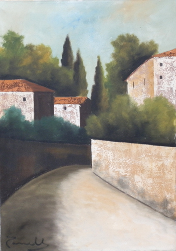 Art work by Sauro Tasselli Paesaggio - oil canvas