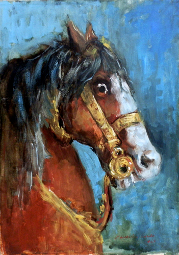 Art work by Carlo Chelini Cavallo - oil canvas