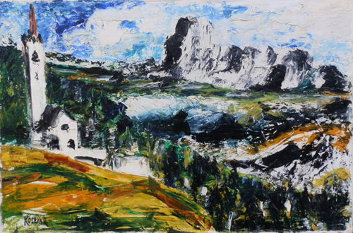 Art work by  Kocevar Val Gardena - oil canvas