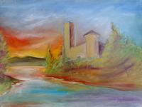 Quadro di Paolo Vespignani  Paesaggio