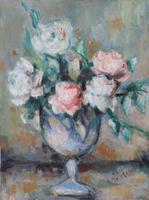 Quadro di Carla Nicolano - Vaso di fiori olio tela