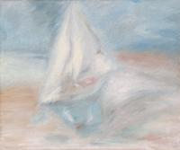 Quadro di A. Bini - La barca dei sogni olio tela
