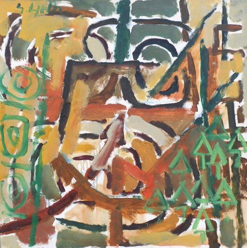 Quadro di Emanuele Cappello Paesaggio informale - olio tela