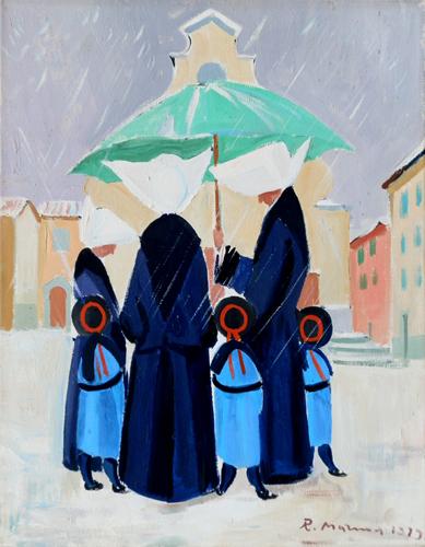Quadro di Rodolfo Marma Monachine  - olio tela