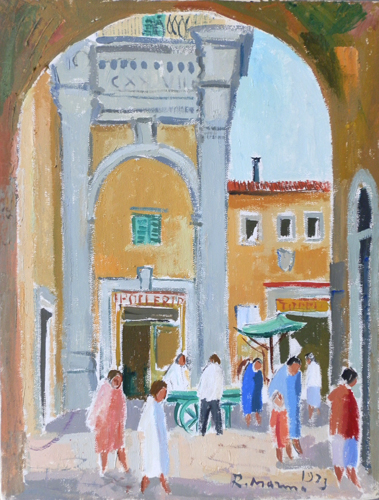 Art work by Rodolfo Marma Arco di S.Piero a Firenze - oil canvas
