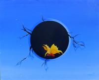 Quadro di Franco Lastraioli - Cielo Forato e Farfalla olio tela