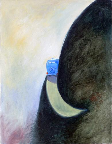 Quadro di Cesare Giardini Il viaggio - olio tela