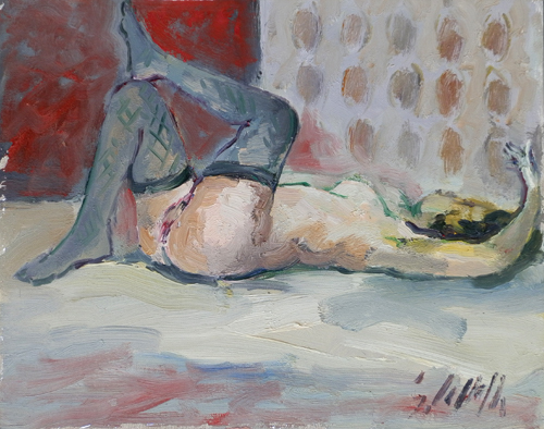 Art work by Emanuele Cappello Nudo - oil canvas