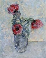 Quadro di Sandro Santini - Fiori olio tela
