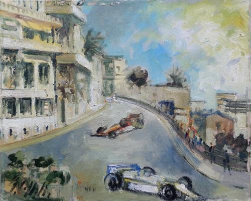 Quadro di Emanuele Cappello Gran Premio - olio tela
