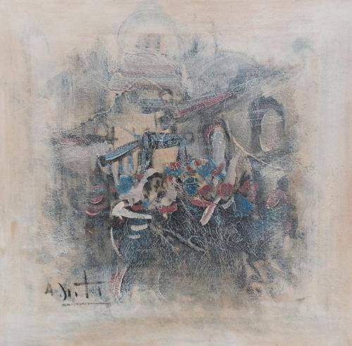 Quadro di Alvaro Danti Composizione  - olio tela