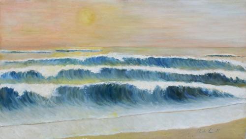 Art work by firma Illeggibile Marina - oil canvas