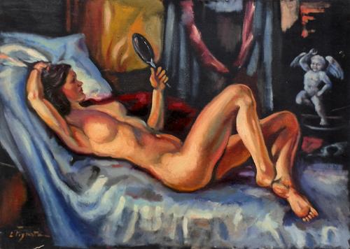 Quadro di Luigi Pignataro Nudo - olio tela