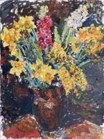 Quadro di Guido Borgianni - Fiori olio tela