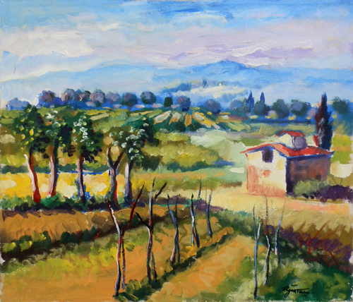 Art work by Luigi Pignataro Paesaggio - oil canvas