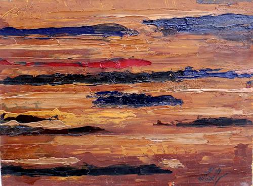 Quadro di Nicoletta Paparella Miraggio - olio tela