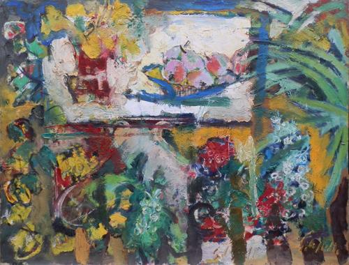 Quadro di Emanuele Cappello Composizione - olio tela