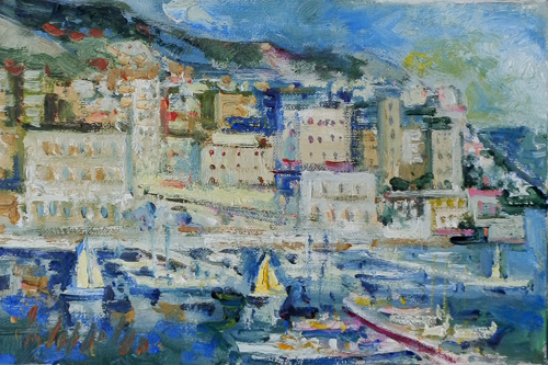Art work by Emanuele Cappello Montecarlo - oil canvas