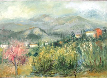 Quadro di Emanuele Cappello Valdinievole - olio tela