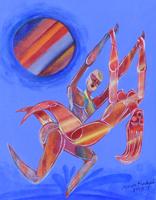 Work of Ahmed Rashad - Io e lei volando oil canvas