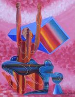 Work of Ahmed Rashad - Incontro erotico oil canvas