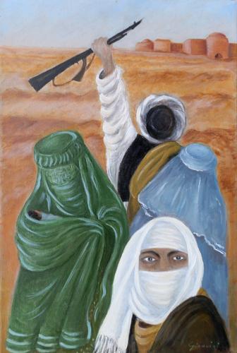 Art work by Graziella Giannini Indifese - oil canvas
