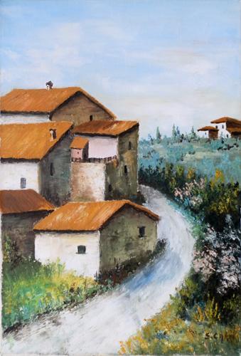 Quadro di S. Carri Paesaggio - olio tela