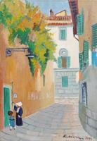 Work of Rodolfo Marma  Viuzzo delle Canne a Firenze