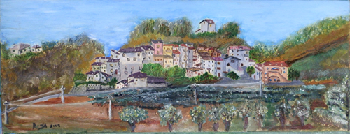 Art work by  Setti Penna Alta - oil canvas