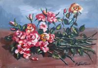Quadro di Luigi Pignataro - Rose olio tela