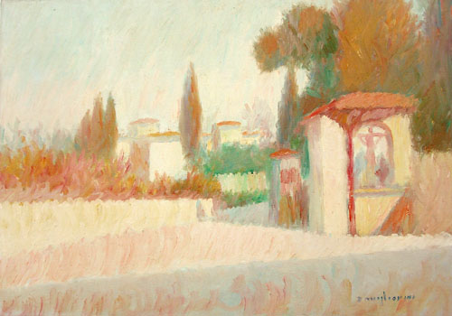 Art work by Dino Migliorini Dintorni di Firenze - oil table