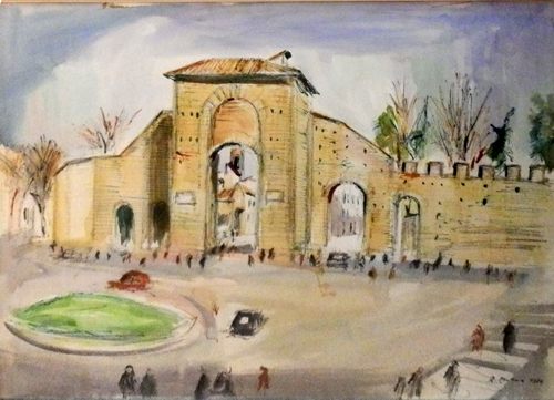 Art work by Rodolfo Marma Porta Romana - watercolor paper