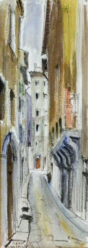 Art work by Rodolfo Marma Via Toscanella,Firenze - watercolor paper