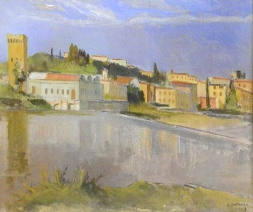 Quadro di Rodolfo Marma Bellariva a S.Niccolò - olio tela