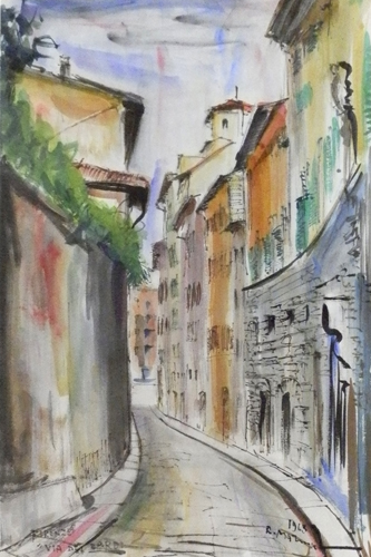 Artwork by Rodolfo Marma, watercolor on paper | Italian Painters FirenzeArt gallery italian painters