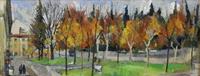 Work of Rodolfo Marma  Autunno in Piazza Donatello