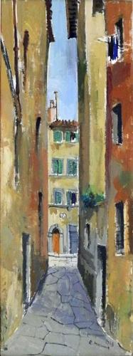 Quadro di Rodolfo Marma Vicolo di S.Paolino - olio tela