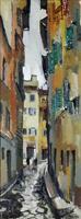 Quadro di Rodolfo Marma  Via Mosca, Firenze