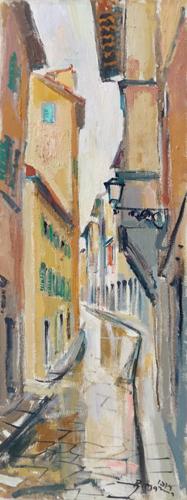 Quadro di Rodolfo Marma Porta Rossa, Firenze - olio tela