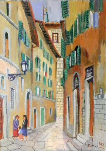 Art work by Rodolfo Marma Via del Corno - Firenze - oil canvas